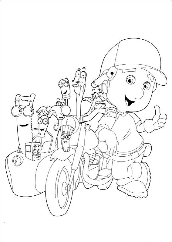 Kids n funcom 29 coloring pages of Handy Manny