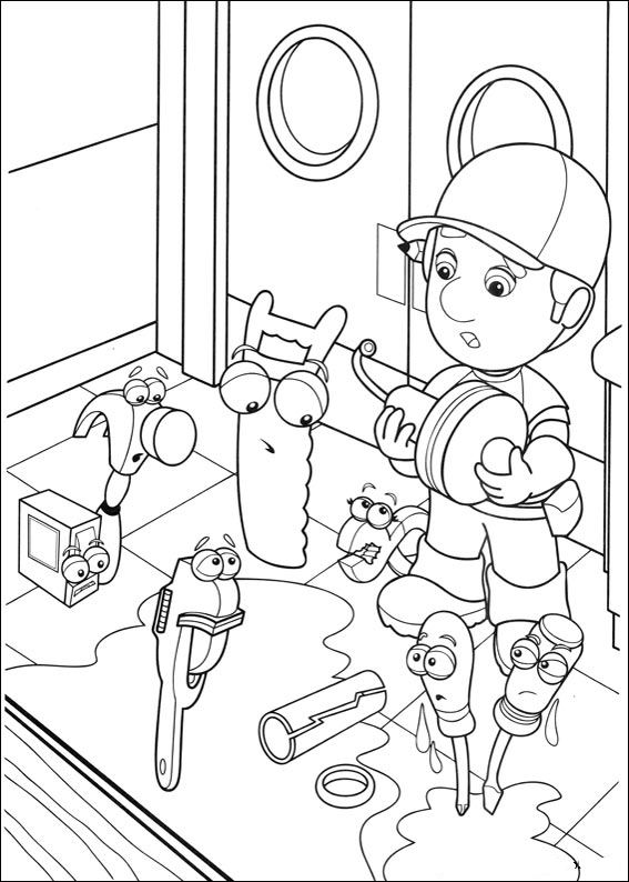 Handy Manny 14 Coloring Page - Free Handy Manny Coloring Pages ... | 794x567