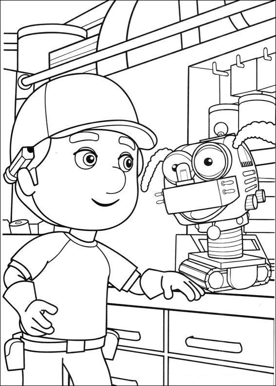 kids n fun 29 coloring pages of handy manny