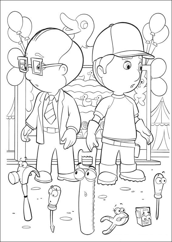 Kids-n-fun.co.uk | 29 coloring pages of Handy Manny