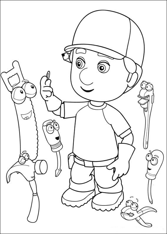 handy manny coloring page - kids n coloring page handy manny handy manny