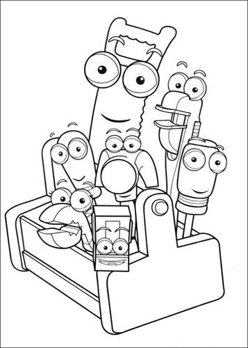Handy Manny Coloring Pages | 500x357
