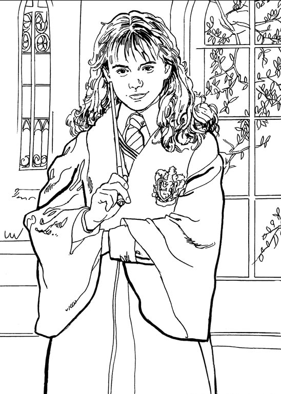 Kidsnfun 28 coloring pages of Harry Potter 2