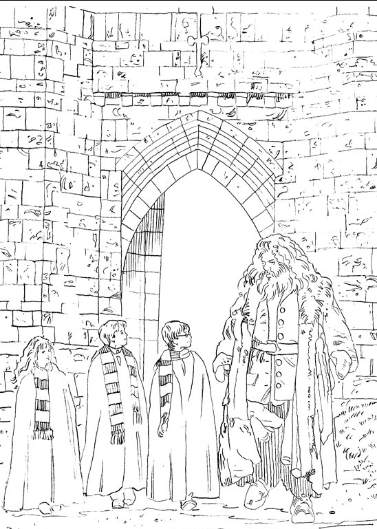 Kids N Fun Com 28 Coloring Pages Of Harry Potter 2