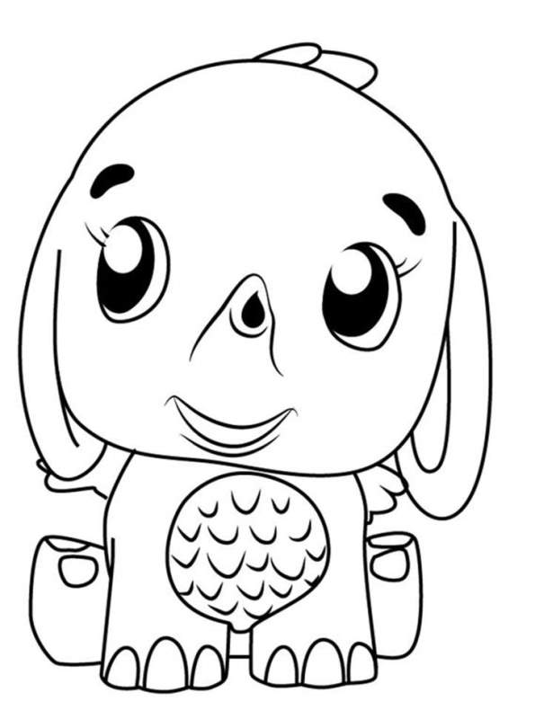 Kids-n-fun.com Coloring Page Hatchimals Elephant