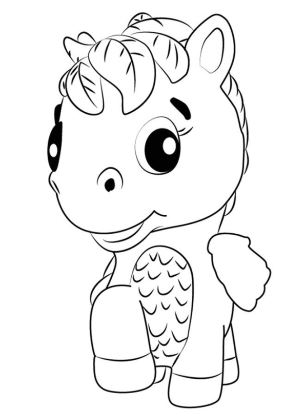 Kids-n-fun.com Coloring Page Hatchimals Horse