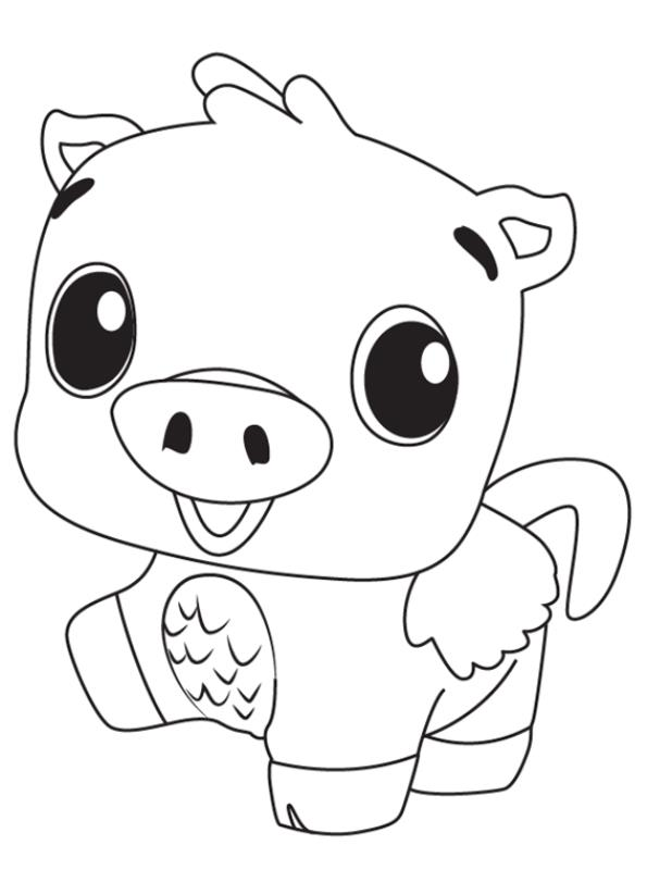Kids-n-fun.com Coloring Page Hatchimals Pig