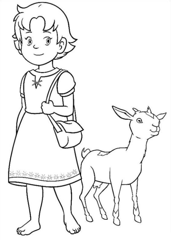 Kids N Fun Co Uk 17 Coloring Pages Of Heidi Girl Of The