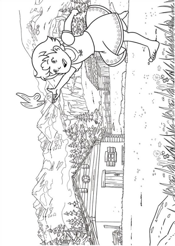 Kids N Fun Co Uk 17 Coloring Pages Of Heidi Girl Of The Alps