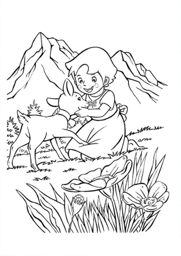 Kids-n-fun.com | 17 coloring pages of Heidi, Girl of the Alps