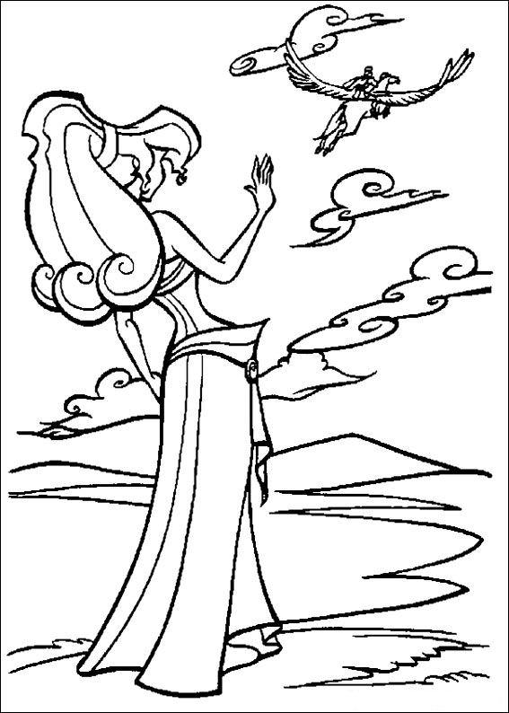 hercules megara coloring pages - photo#26