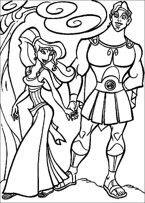 disney hercules coloring pages - photo#5