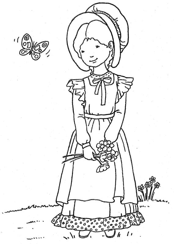 Kids n 6 coloring pages of holly hobbie original for Holly hobbie coloring pages