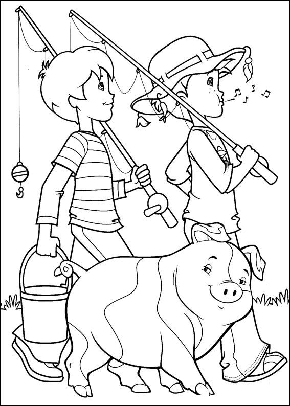 Kids n holly hobbie for Holly hobbie coloring pages