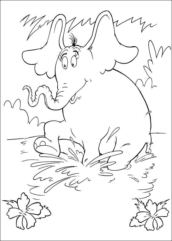 Kids-n-fun.co.uk | 65 coloring pages of Horton Dr. Seuss