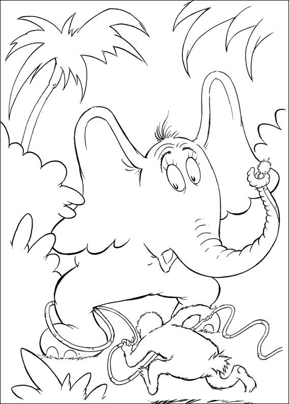 Kids n 65 coloring pages of horton dr seuss for Dr seuss printable coloring pages