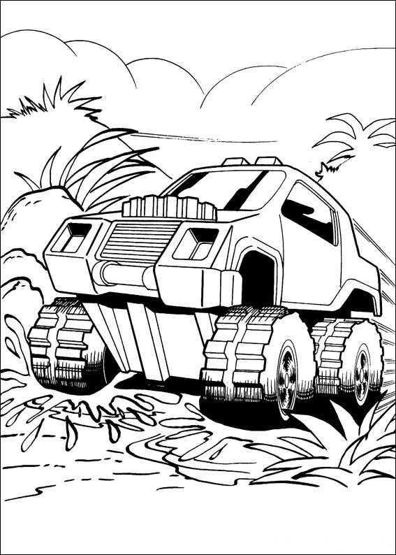 Kids n funcom 41 coloring pages of Hot Wheels