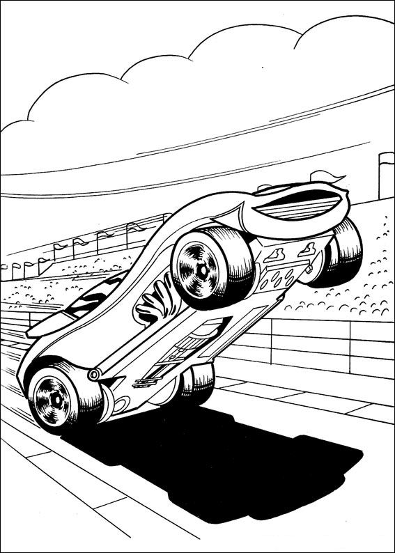 Kids N Fun Com 41 Coloring Pages Of Hot Wheels