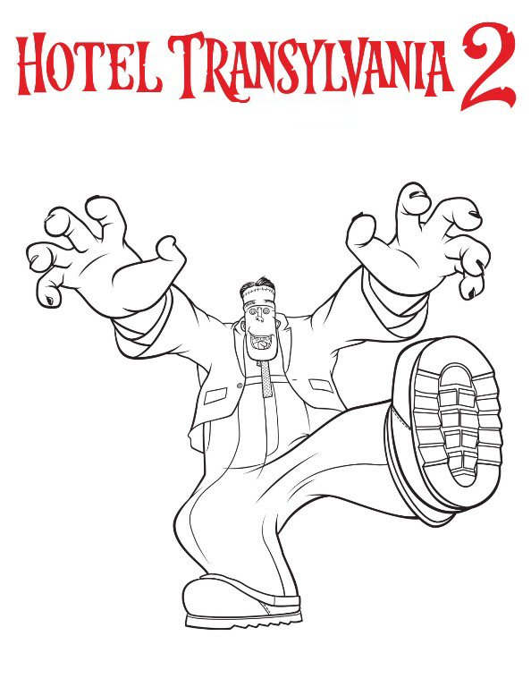 Kidsnfuncom 8 coloring pages of Hotel Transylvania 2