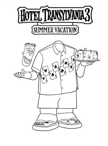 Kids N Fun Com 13 Coloring Pages Of Hotel Transylvania 3 Summer Vacation