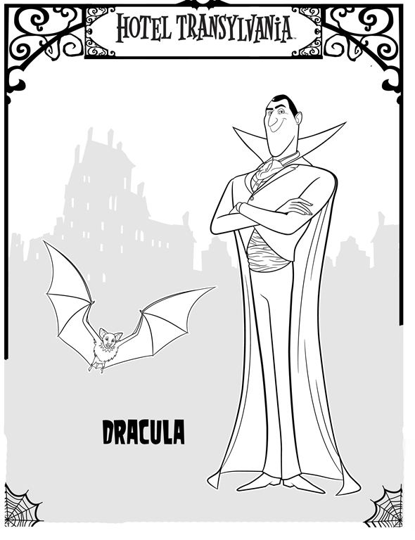 Kids N Fun Co Uk 22 Coloring Pages Of Hotel Transylvania