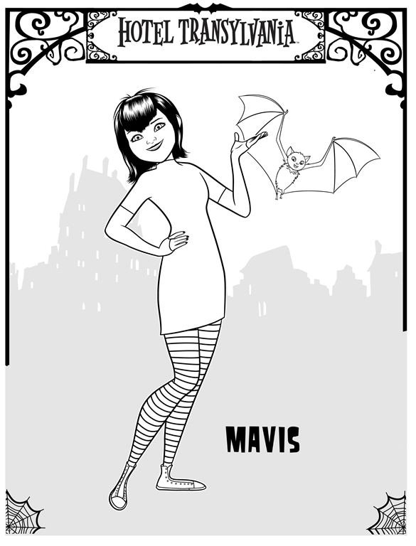 Kidsnfun 22 coloring pages of Hotel Transylvania