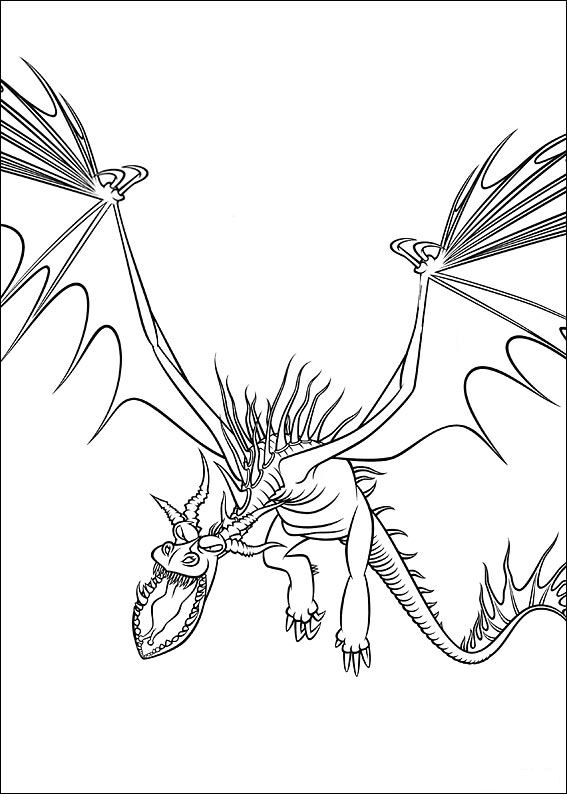 Kidsnfuncom  18 coloring pages of How to train your dragon