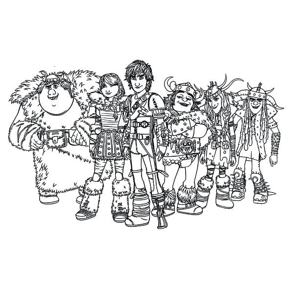 7 How To Train Your Dragon 2 Coloring Pages