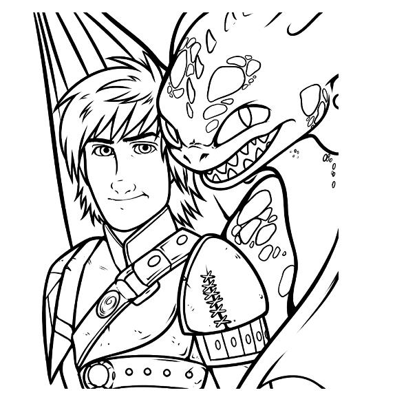 - Kids-n-fun.com Coloring Page How To Train Your Dragon 2 Hiccup Toothless