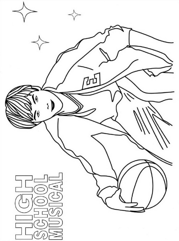 Kids-n-fun.com | 9 coloring pages of High School Musical