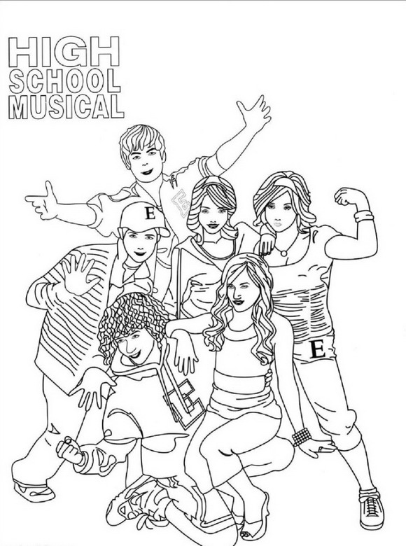 Kids n funcom 9 coloring pages of High School Musical