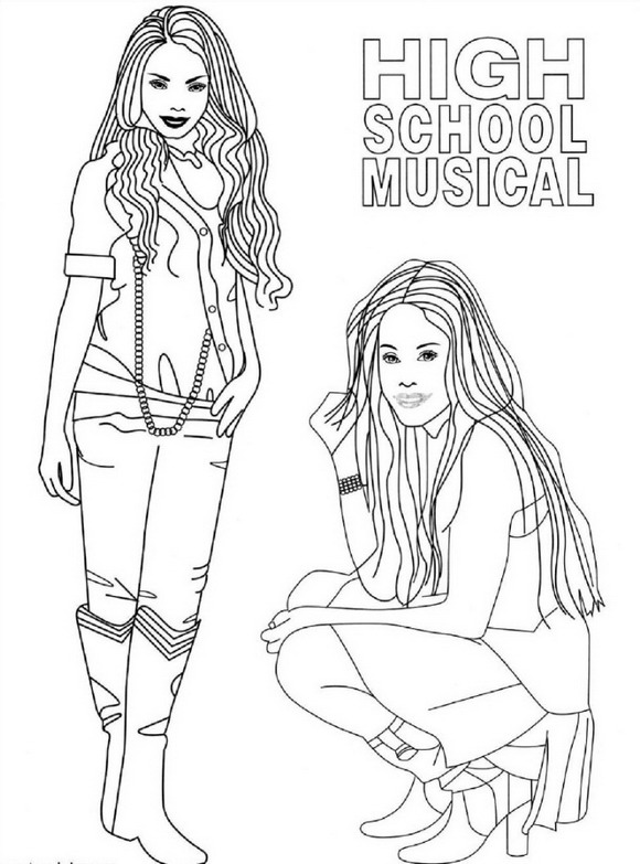 highschool musical coloring pages sharpay | Kids-n-fun.com | 9 coloring pages of High School Musical