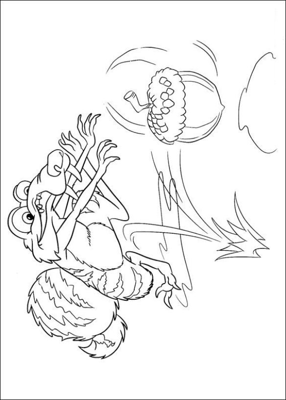 Kids-n-fun.co.uk | 12 coloring pages of Ice Age 4 Continental Drift