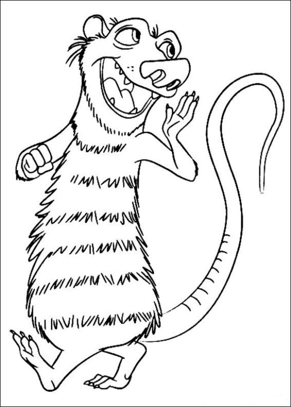 Kids-n-fun.com   12 coloring pages of Ice Age 4 Continental Drift
