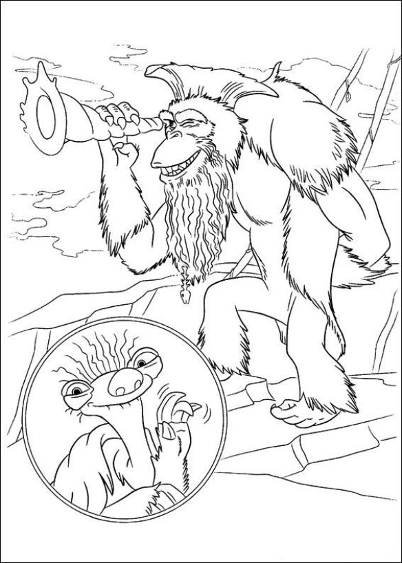 Kids N Fun Co Uk Coloring Page Ice Age 4 Continental Drift