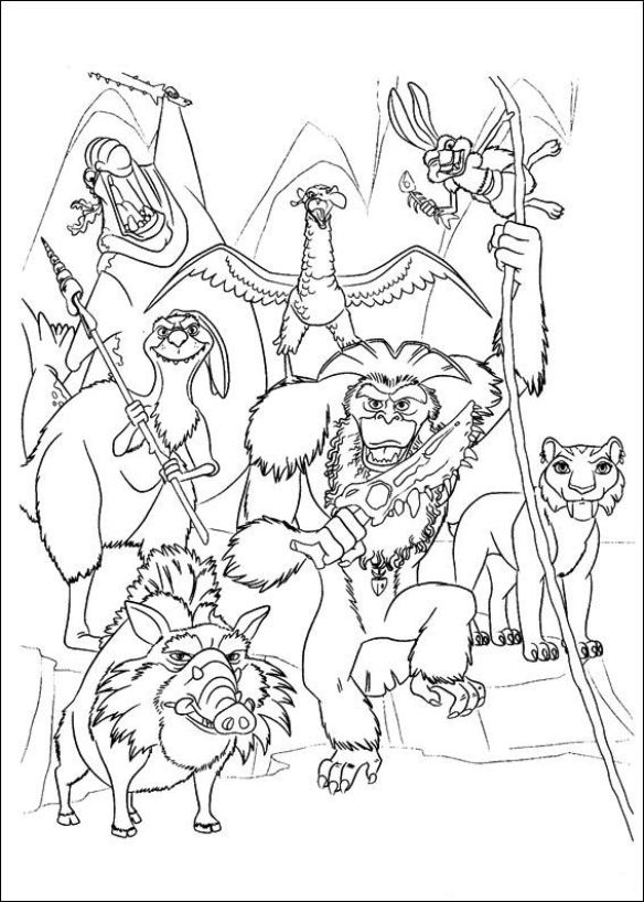 Kleurplaten Iceage.Kids N Fun Com Create Personal Coloring Page Of Ice Age 4