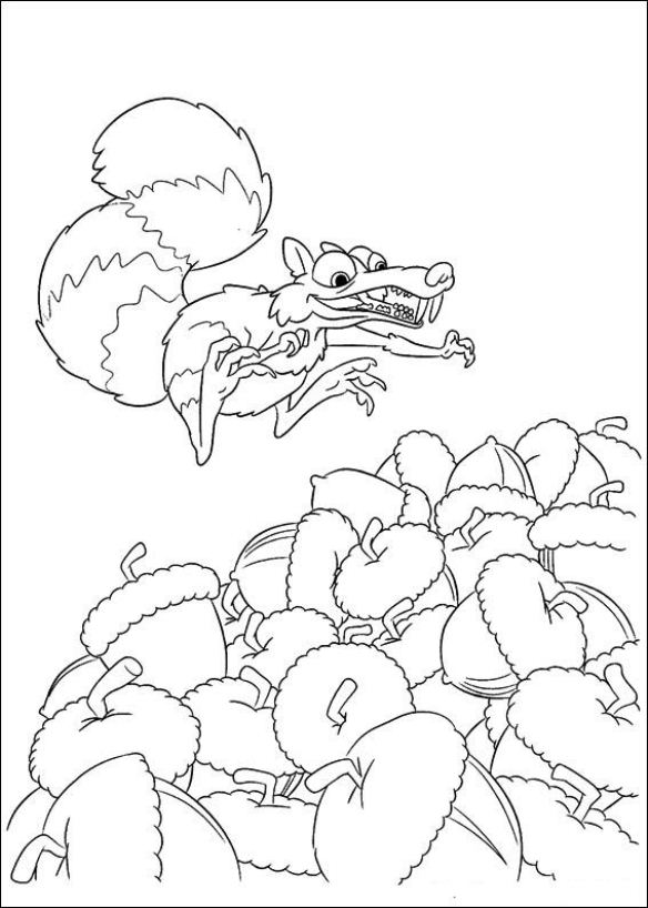 Kids-n-fun.com | 12 coloring pages of Ice Age 4 Continental Drift