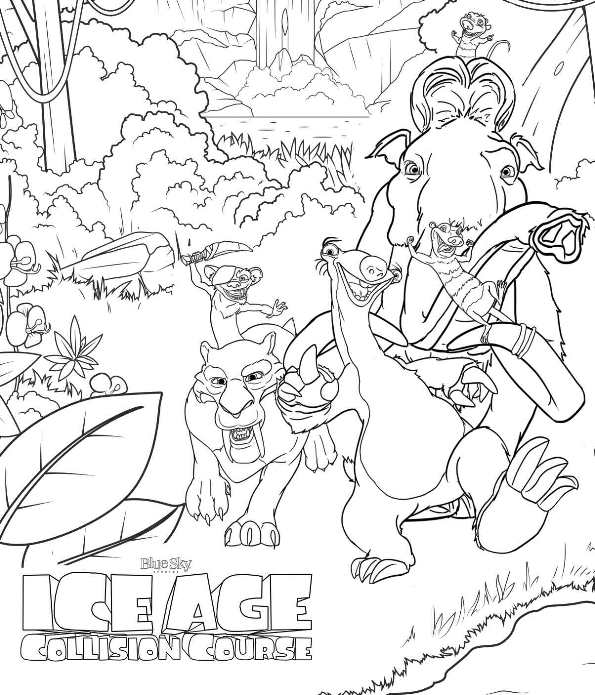 Kids-n-fun.com | 7 coloring pages of Ice age collision course