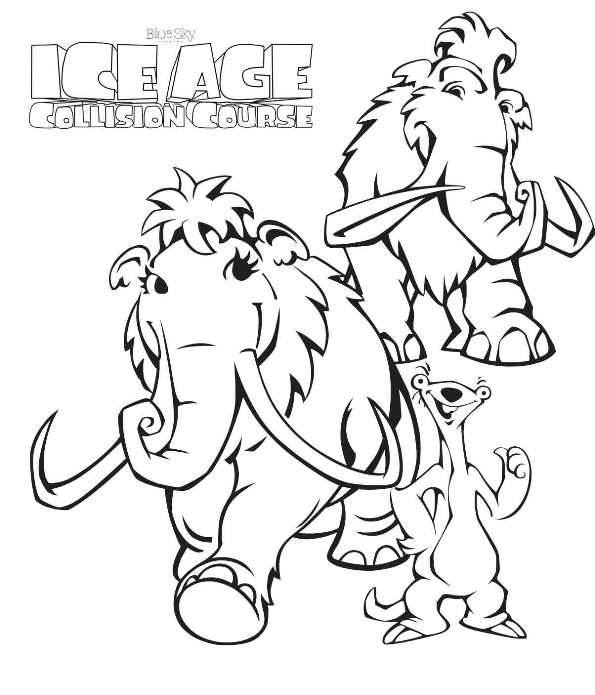 Ice Age Collision Course 7 Coloring Pages