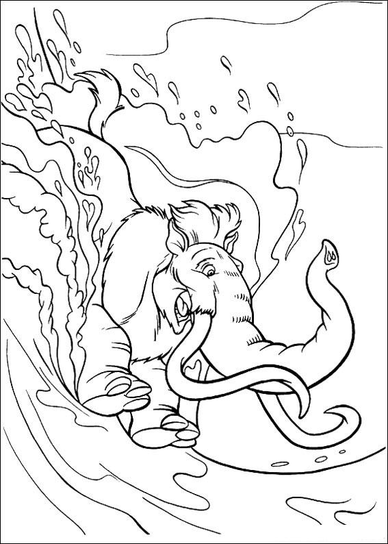 kids n funcom 34 coloring pages of ice age 2 - Ice Age Characters Coloring Pages