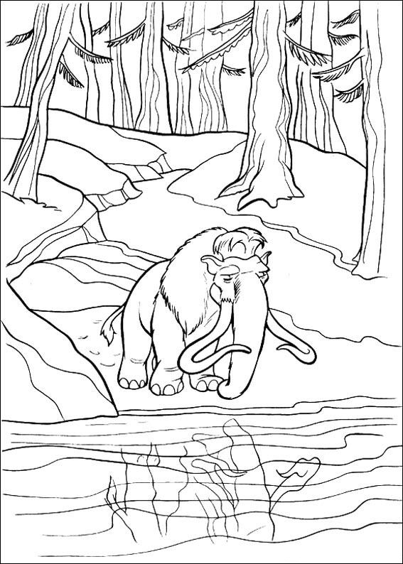 Ice age 2 coloring pages