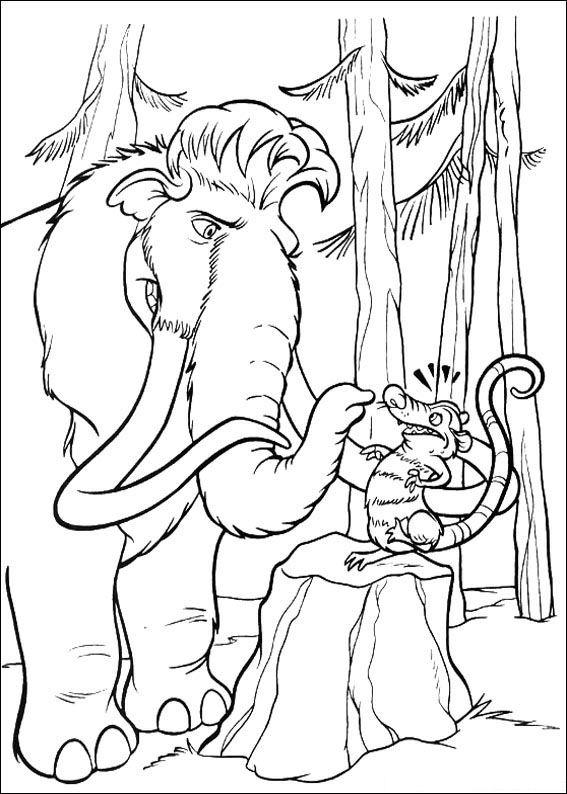 Kids-n-fun.com | Coloring page Ice Age 2 Ice Age 2