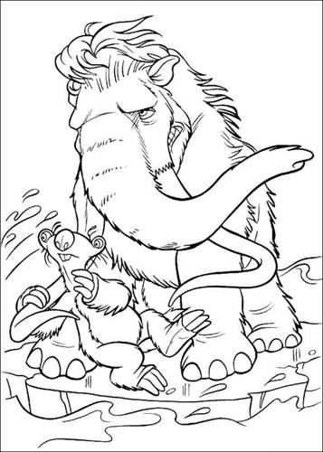 Kleurplaten Iceage.Kids N Fun Com 34 Coloring Pages Of Ice Age 2