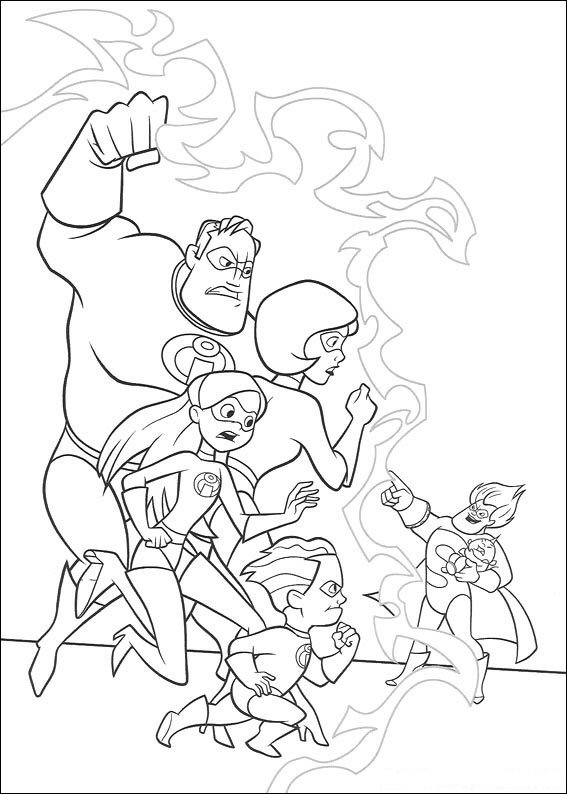 62 incredibles coloring pages