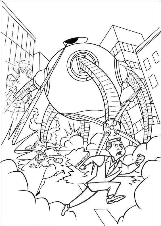 Kidsnfun 62 coloring pages of Incredibles