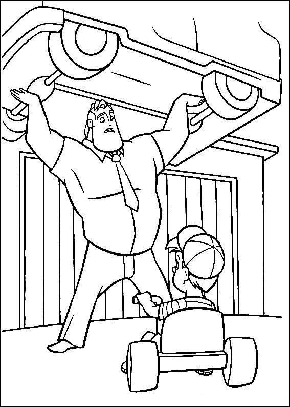 the incredible coloring pages - photo#25
