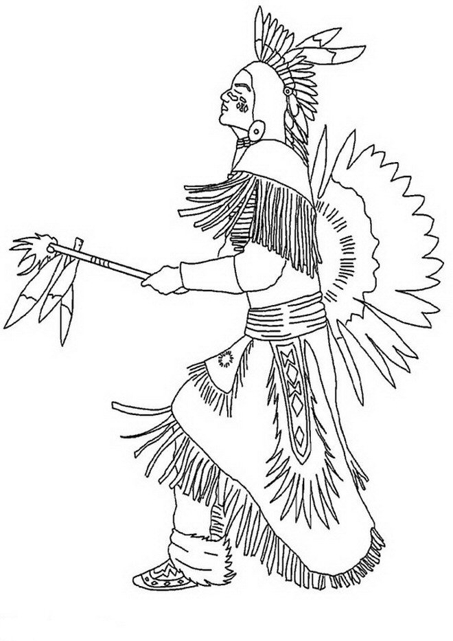 14 native americans coloring pages