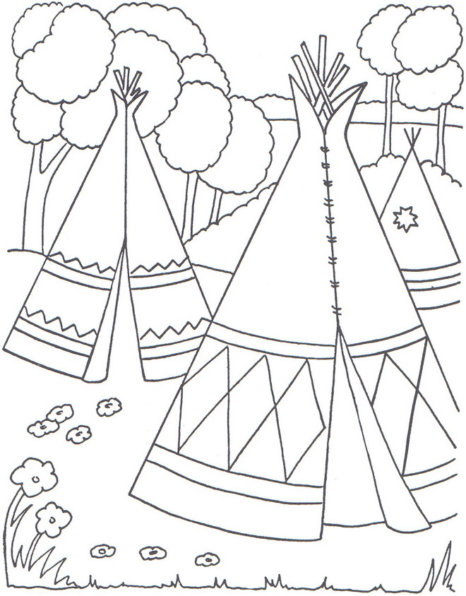 native americans - Native American Coloring Pages