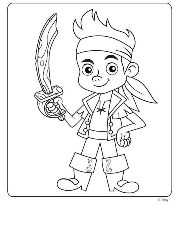 disney pirates coloring pages - photo#4