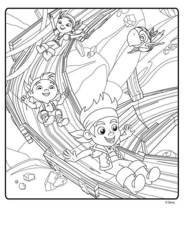 Kids n 9 coloring pages of jake and the never for Jake and the pirates coloring pages